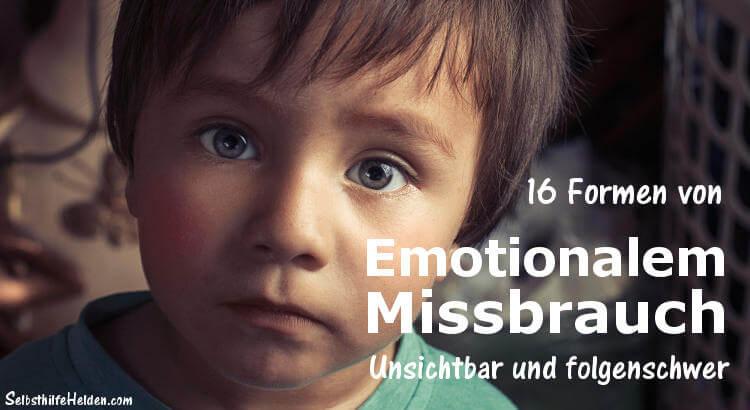 Beitragsbild: Emotionaler Missbrauch in der Kindheit